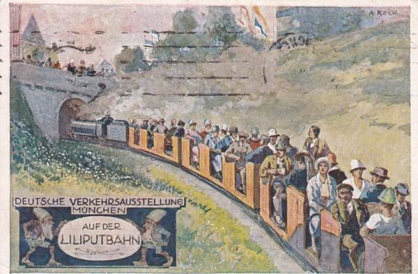 schöne Ausstellungs-AK München Verkehrsausstellung 1925, Michel!