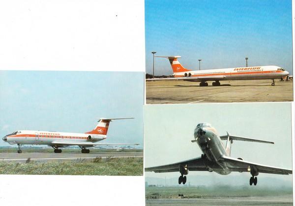 3 AK der Interflug, gnadenlos eingestampft Ende 1991