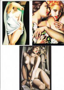 Tamara de Lempicka, 5 erotische col-AK, Nachkrieg, Originale alle entstanden 1925-1932, ungel., Erh. i.O.