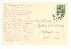Bahnpost Nürnberg - Augsburg 1925, RS: Kloster Banz