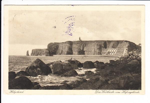 100 Jahre Seebad Helgoland, 1826/1926, Bordstempel Cobra 29.8.1926, Poststpl. ab der Insel, beste Erh.