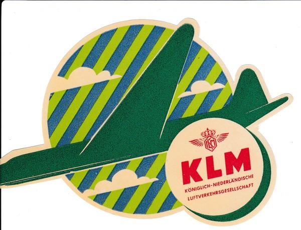 KLR-Kofferaufkleber 50er Jahre, noch original gummiert