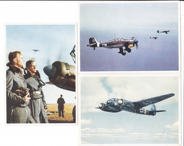 3 color AK, Luftwaffe, ca. 1949, ungel.