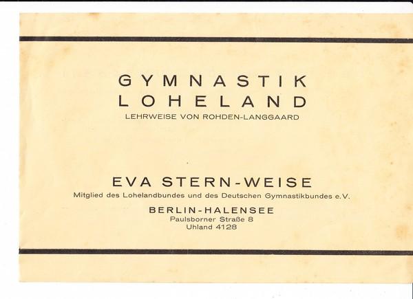 Gymnastik Loheland, Halensee, Prospekt ca. 1930