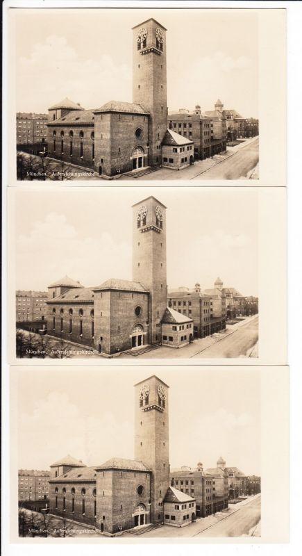 3 x Schwanthalerhöhe, ev. Auferstehungskirche Architekt Bestelmeyer, Taufkirche Philipp Haidl (*1980) in Berliner Krabbelkiste gefunden, eigentlich recht selten, Postenehrlicher Preis für Stammkunden, wir können 4 x helfen