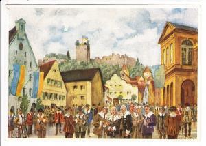 Pappenheim, 50. Dusigst Mayenfahrt, SST, Anlass-AK, Wir hatten noch nie eine Karte zu diesem Anlass!