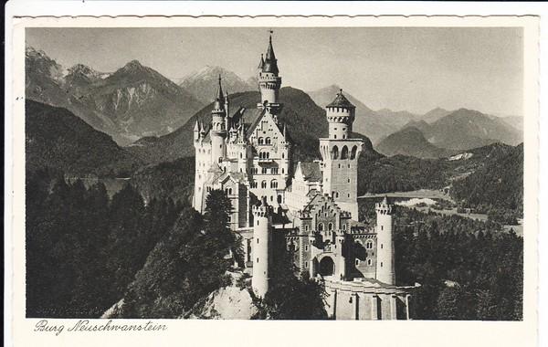 Kaufbeuren - Füssen, bestmögl. Abschlag 1937, Ak harmlos, Reichsform oval