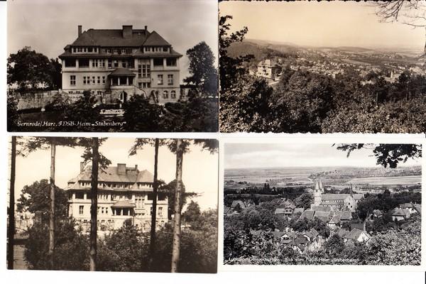 Gernrode, 8 kleinformatige s/w-Ak, frühe DDR