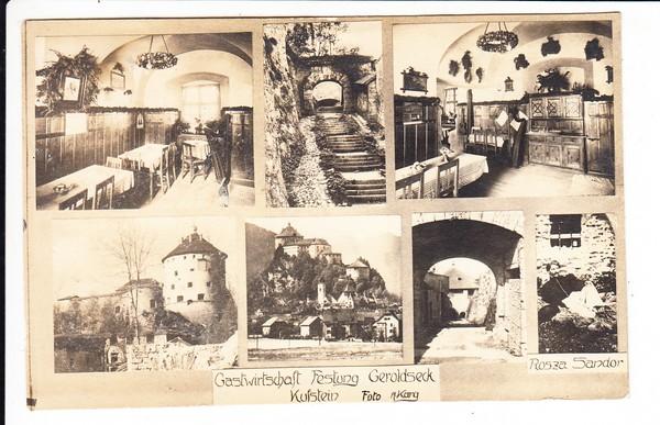 Foto-Karg Karte, Gaststätte Geroldseck, Kufstein, gel. ab dortselbst 1930