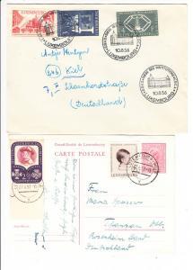 Luxemburg, 2 Belege 1956/57 Michel 2003 39?