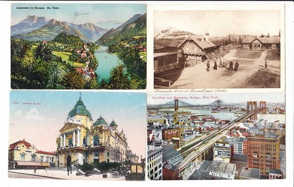 8 AK 7x an Anny von/van Kruyswyk geb. 1898 Budapest, gest. 1976 Müncen, Sopranistin, Musik-Prof Tochter an allen wichtigen europ. Häusern aufgetreten. Zum AK Preis!