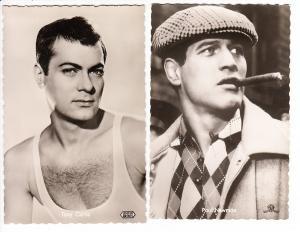 2 US-Schauspieler-Größen ihrer Zeit, Paul Newmann u. Tony Curtis in jungen Jahren