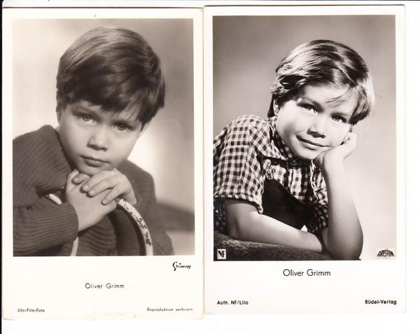 Oliver Grimm, Kinderstar der 50iger Jahre, 2 AK