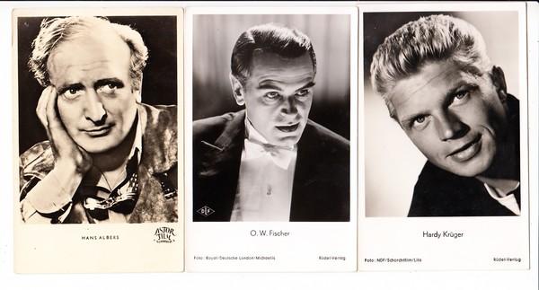 O.W. Fischer, Hans Albers, Hardy Krüger, 3 Beaus der 50/60iger Jahren