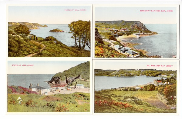 8 Karten Jersey, Ärmelkanal, ca. 1935/38 aus Nachlass eines dt. Kriegsgefangenen, wie neu