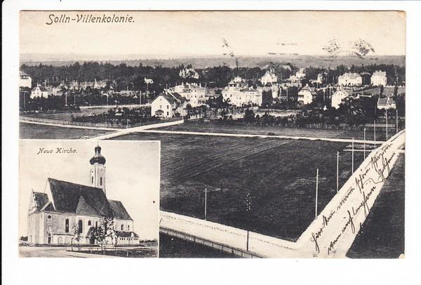 München Solln, Villenkolonie, Feldpost, RS: entsprechender dortiger Lazarett-Stpl, i.O.