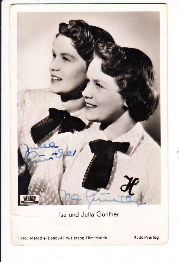 Isa und Jutta Günther, geb. 1938 Zwillinge Kinderstars, 1950-58, rar! O-U