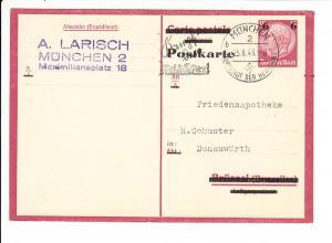 P244, beste erh., Mi nur 3,5?, hier immerhin 1943 an eine Friedensapotheke und eigenhändig Larisch! daher doch