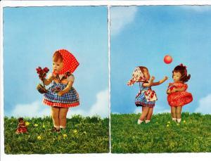 2 Puppen-AK, Kruse? gel.i.O.