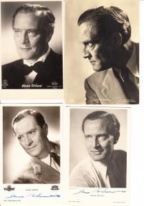 Hans Stüwe, Regisseur und Schauspieler 1901-1976, 4 AK, 2xO-U