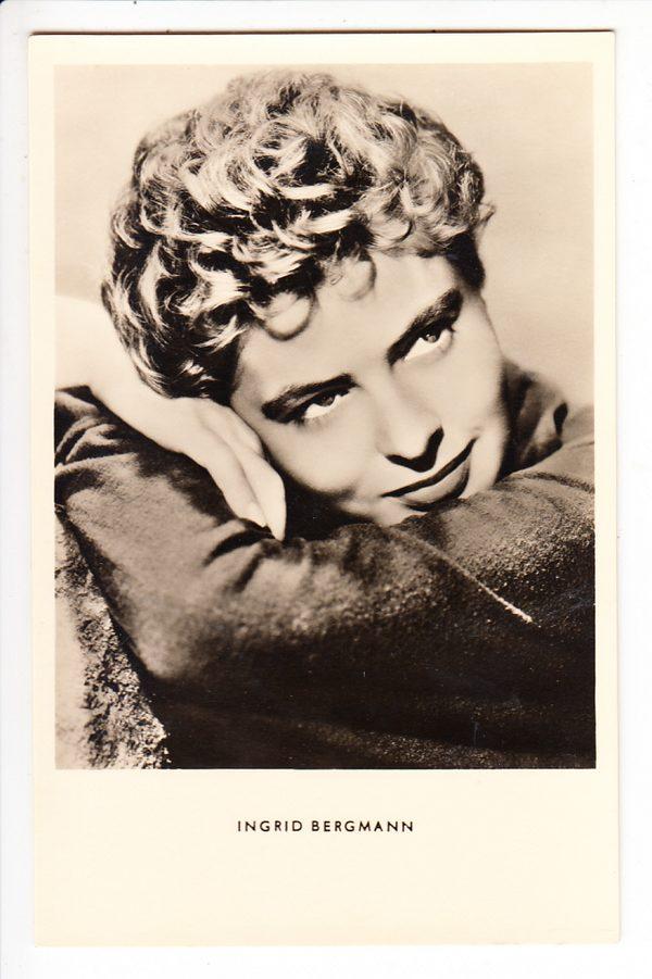 Autogrammkarte Ingrid Bergmann ungel., i.O.
