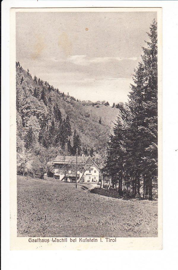 Österreich, Tirol, Gasthaus Wachtl bei Kufstein, an der Steinbruchbahn und direkt an der Grenze, Marke ab, sonst i.O.