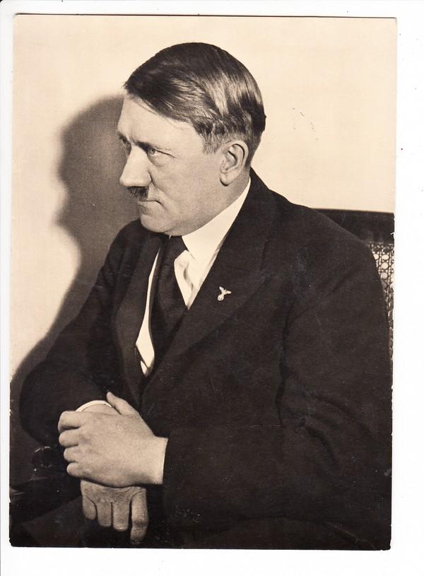 offenkundig amerikanisches Foto ( siehe genau die RS!) 13x18cm, Hitler