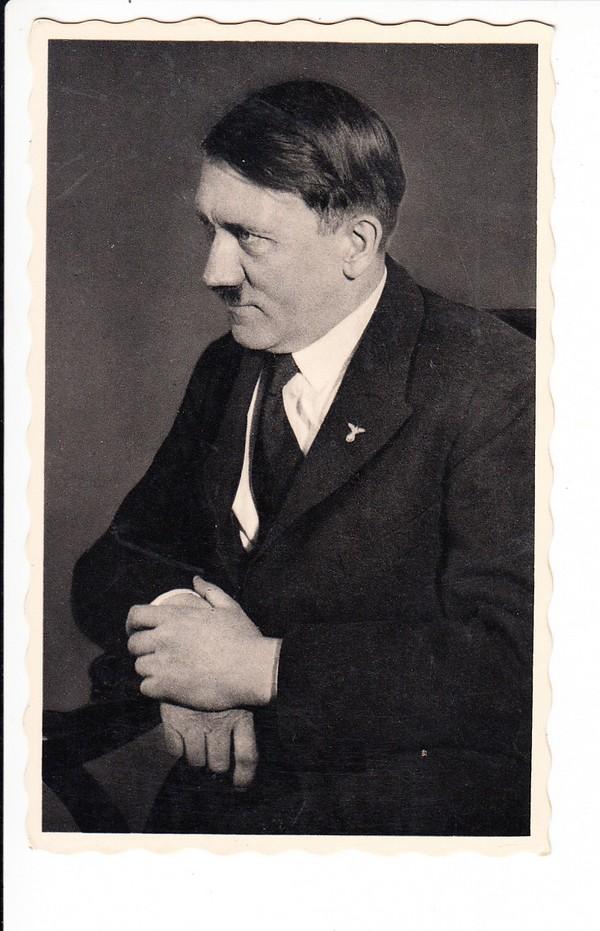 Hitler-Foto-AK, kleiner Verlag, SST, Wien 6.4.38