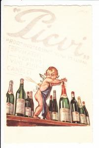 Mauzan-Karte, Picvi-Sprituosen mit engel vor 20 Jahren Postenkarte!