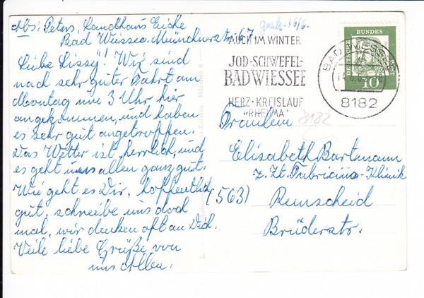 Bad Wiessee, Landhaus Eiche, Foto-Karsten-AK, gel. 1962 1