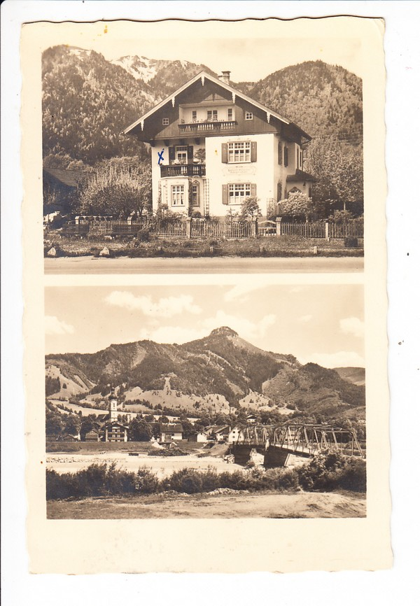 Lenggres, geklärte Einzelhaus-AK (Rückseite!), Foto-Weiß, dortselbst 0