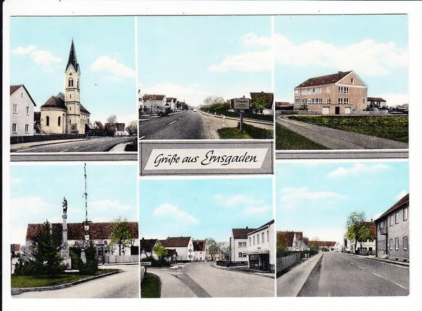Ingolstadt - Ernsgaden, Beck-Karte, kurzlebiger, vergessener Verlag 0