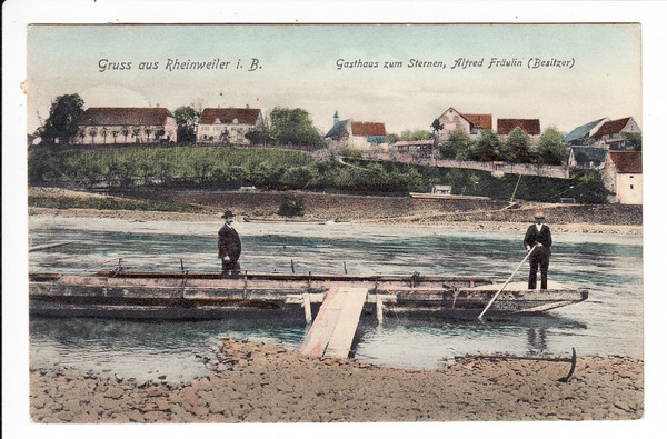 Rheinweiler, badische Rheinfahrer, handcol. 0