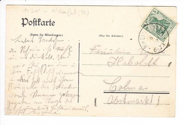 Rheinweiler, badische Rheinfahrer, handcol. 1