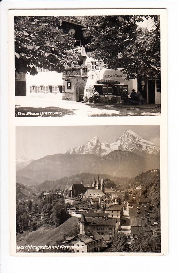Berchtesgaden, Foto-Karsten-AK, 1957 gel., Gasthaus Untersten 0