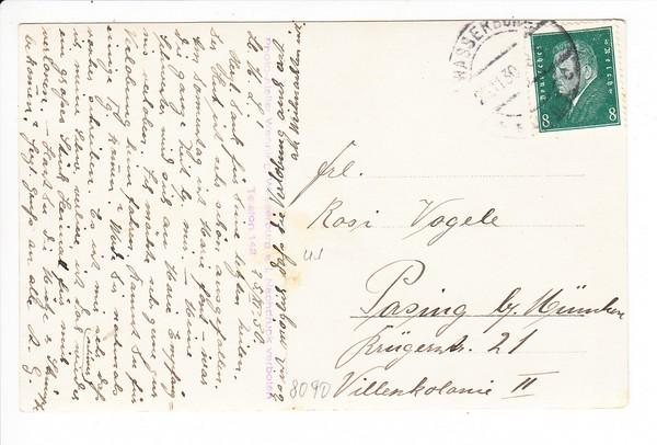 Wasserburg, Waldkapelle, Stpl. Foto-Wenning, dortselbst, gel. 1929 1