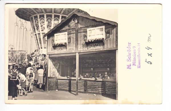 München, Privat-Photo-AK, Oktoberfest 1949, Unkat 0