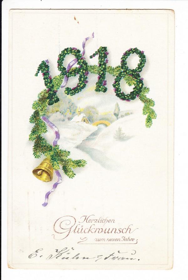 Jahrgangs-Karte 1918! gel. 31.12.17, wann sonst?! 0