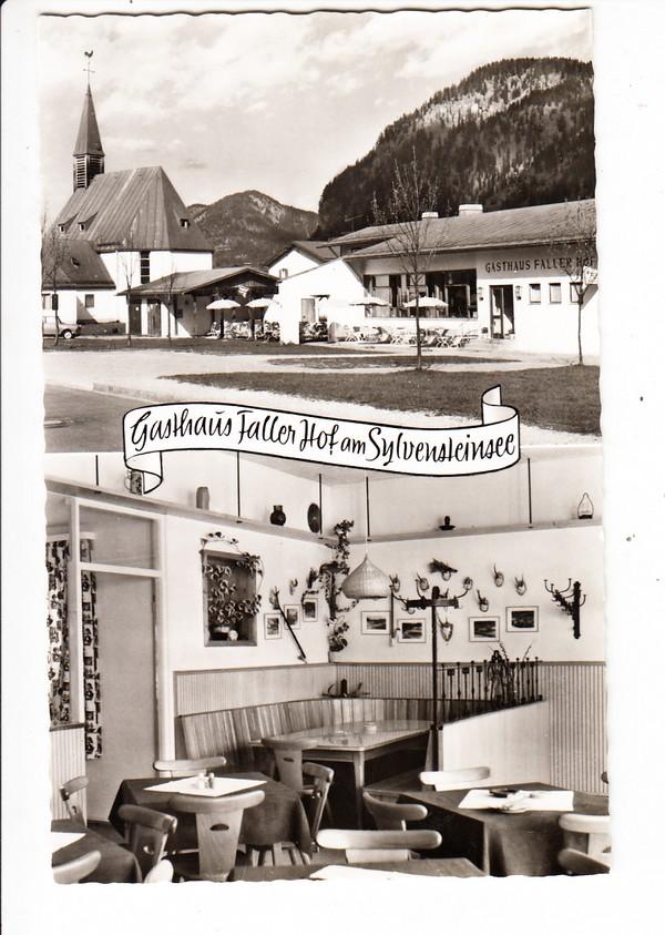 frühe Neu-Fah-AK, Gasthaus Faller Hof, nähe Sylvenstein-Speicher, ungel. 0
