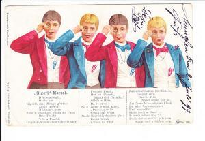 Giegert-Reim-Karte, eigentlich Wiener Burschen, aber in München mit Courierpost gelaufen