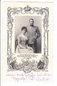 Bayrisch/Coburgische Hochzeit, gel. 1900