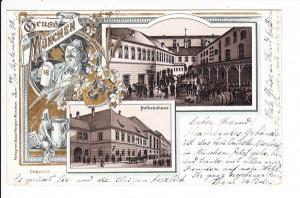 München, altes Hofbräuhaus, Litho, Erh. i.O., nach Griechenland, obwohl Otto v. Wittelsbach, 1. König dort war, sind AK nach dort selten