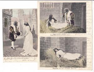 10er Serie Goethe: Faust-Szenen, handcol., gel. Amberg - München 1903, gleiche Adresse
