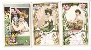 Col-6er Serie, Frauen wir finden durchaus erotisch, aber auch sehr schöne Rückseiten, Ortsporto, beste erh., gel. 1902, Michel schon 54.-