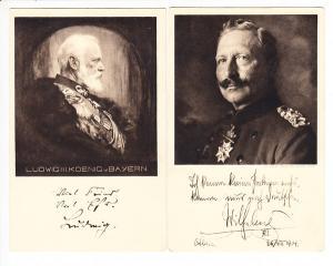 2 Rot-Kreuz-Ganzsachen, Ludwig III und Wilhelm II, ungel. i.O.