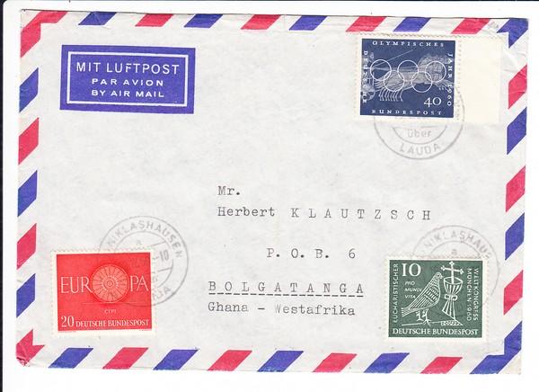 Luftpostbrief nach Ghana 0