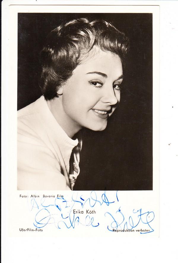 Erika Köth 1960, O-U, kurze Widmung 0