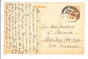 Frankfurt - Karlsruhe - Basel 1916, i.O.