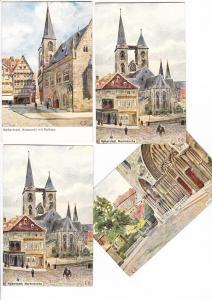 Halberstadt, 4 col.-AK, 3x gel, 1x beschr. an gl. Adresse, i.O.