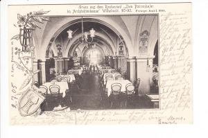 Berlin, Patzenhofer, innen, gel. 7/1905, zwar schon zweiteilige RS, noch Ankunftsstempel, i.O.